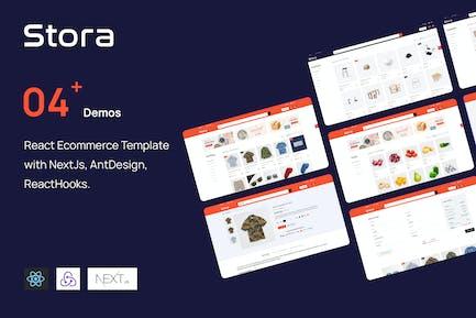 Stora - React Ecommerce NextJs, ReactHooks...