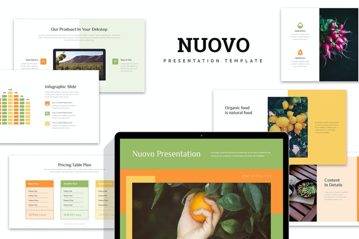 Nuovo: Органические продукты питания Powerpoint