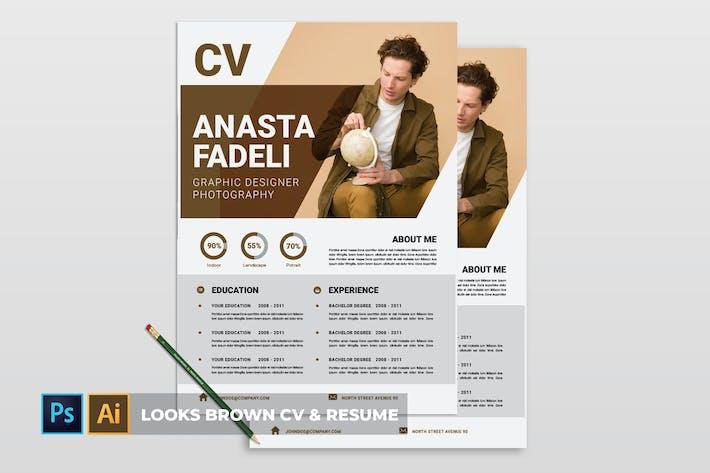 Thumbnail for Looks Brown | CV & Resume