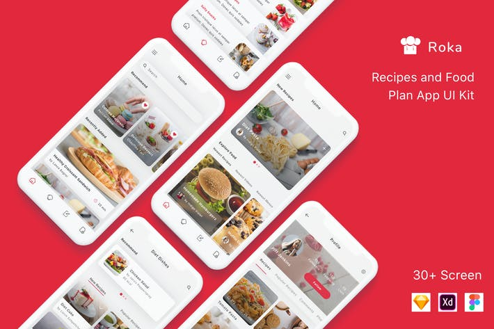 Thumbnail for Roka - Recipes and Food Plan App UI Kit