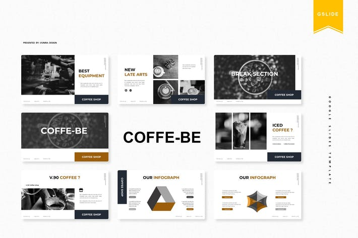 Thumbnail for Coffe - Be | Google Slides Template