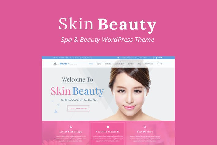 Thumbnail for Skin Beauty - Beauty | Spa | Salon WordPress Theme