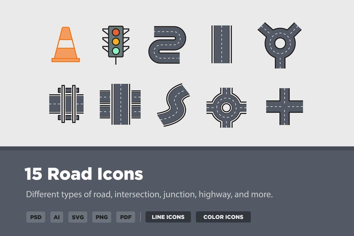 15 Road Icons