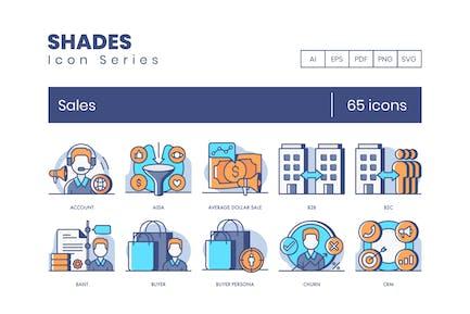 65 Íconos de ventas | Serie Shades