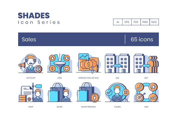 Thumbnail for 65 VerkaufssIcons | Shades Series