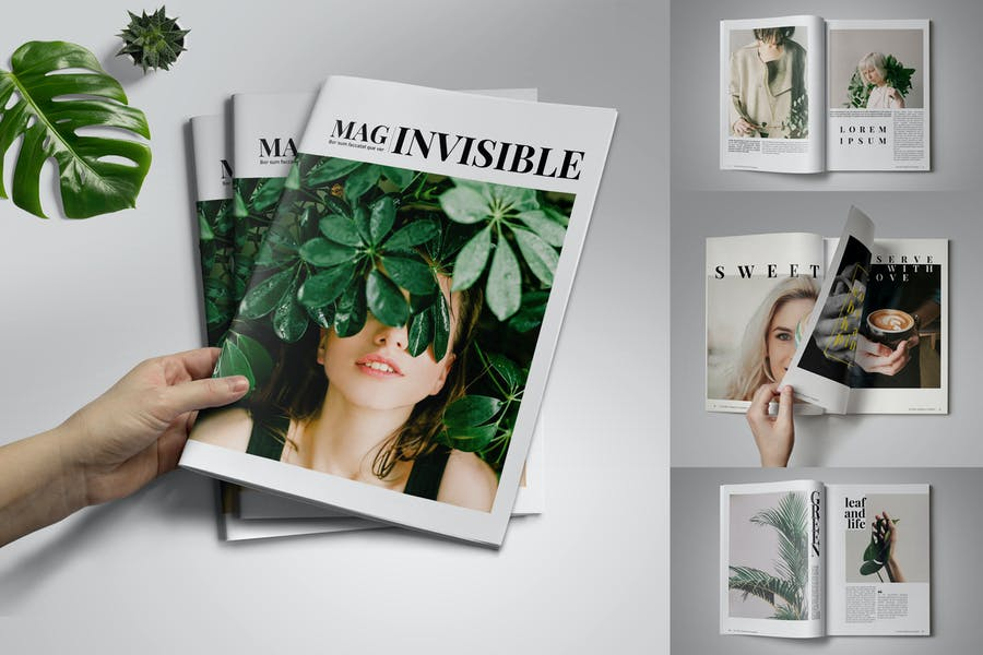 Invisible Magazine Template - product preview 0