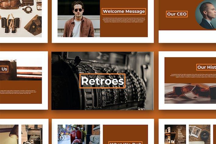Thumbnail for Retroes - Multipurpose PowerPoint Presentation