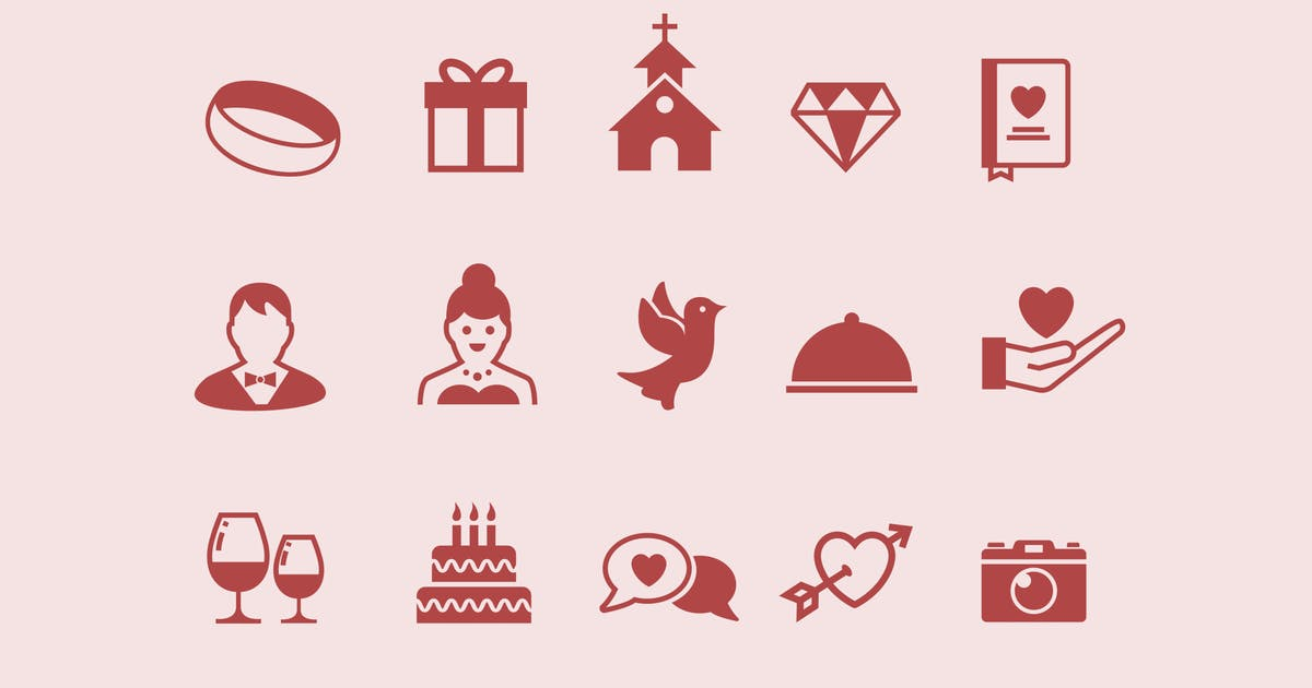 Download 15 Wedding Icons by creativevip