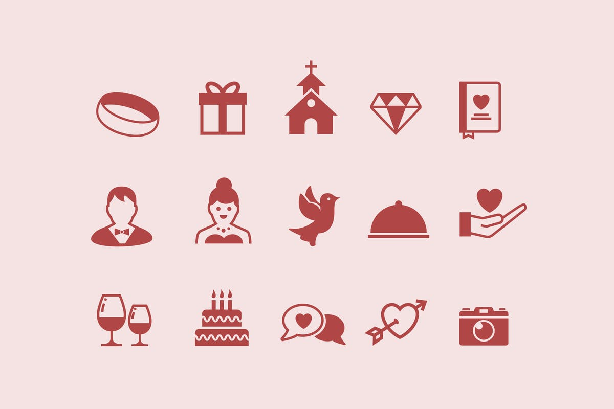 Download 15 Wedding Icons by creativevip by Unknow