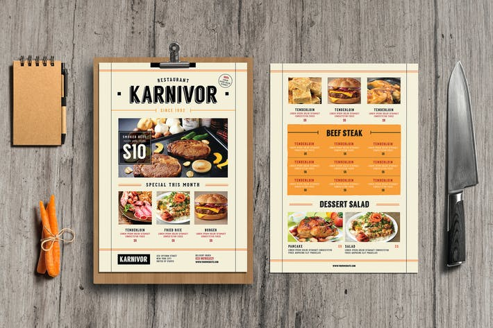 Thumbnail for Restaurant Flyer Menu