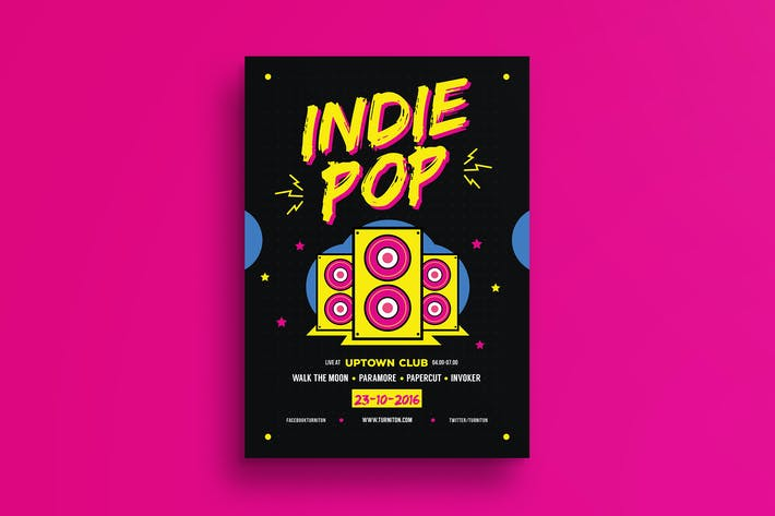 Thumbnail for Indie Pop Music Flyer