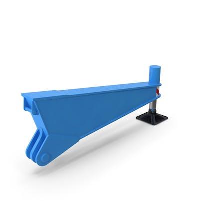 Crane Outrigger Blue