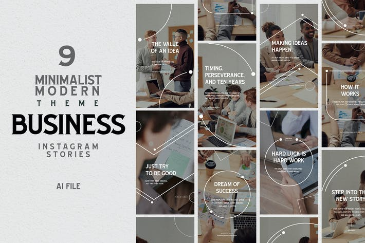 Thumbnail for Minimalist Theme - Business Instagram Stories