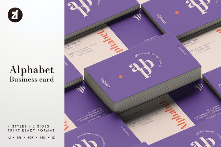 Thumbnail for Alphabet - Business card template