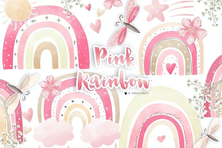 Rosa Regenbogen-Design