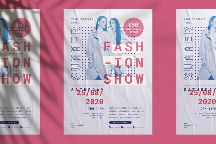 Thumbnail for Summer Fashion Show Flyer