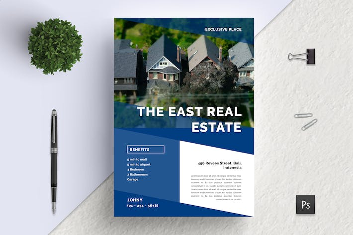 Thumbnail for Popong Professional Real Estate Flyer
