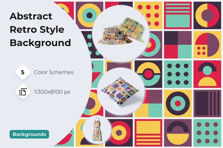 Thumbnail for Abstract Retro Style Background