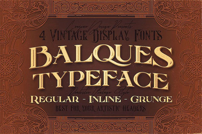 Thumbnail for Balques Typeface