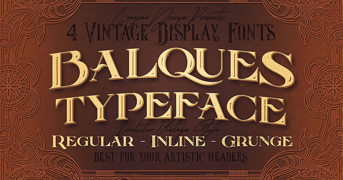 Download Balques Typeface by cruzine