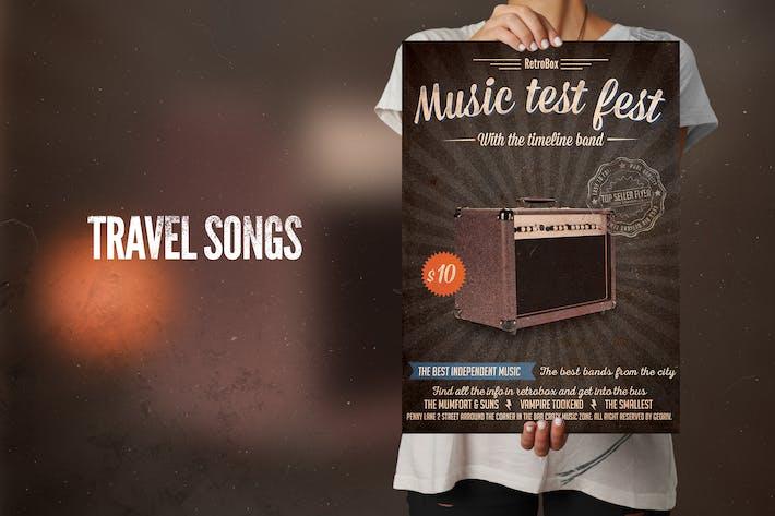 Music Test Fest Flyer Poster
