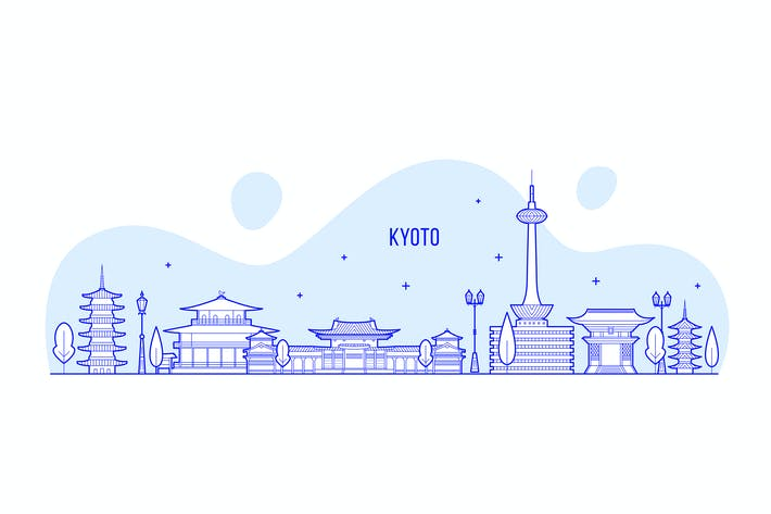Thumbnail for Kyoto skyline, Japan