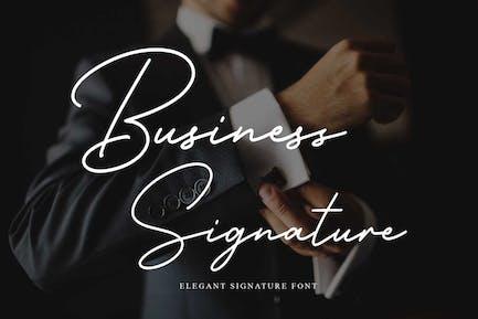 Business Signature - Elegant Corporate Font