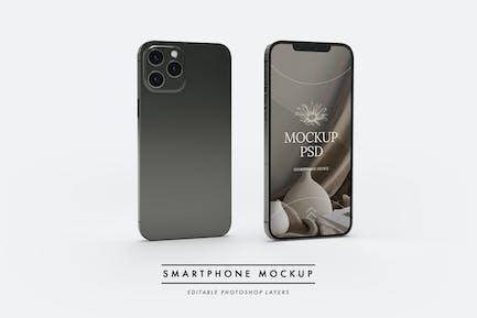 Smartphone showcase mockup