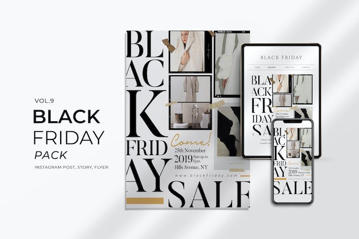 Thumbnail for Black Friday Promotion Flyer and Instagram Vol. 9