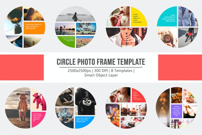 Thumbnail for Circle Layout Photo Frame Templates