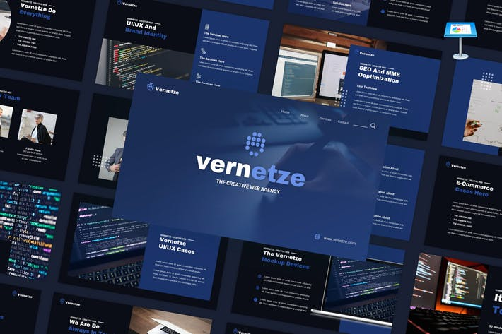 Thumbnail for Vernetze - Creative Web Agency Keynote Template