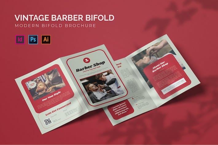 Vintage Barber - Bifold Brochure
