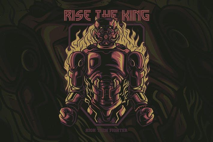 Thumbnail for Rise the King T-Shirt Design