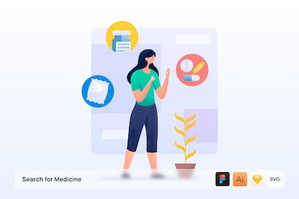 Búsqueda de ilustración de medicina