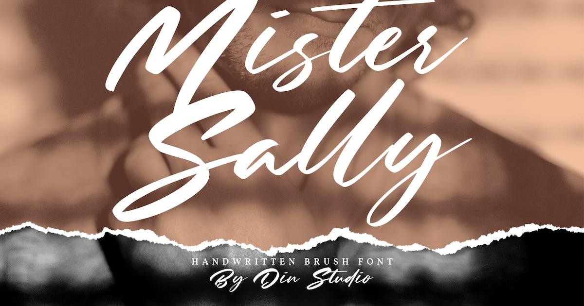 Download Mister Sally-Beautiful Handwritten Brush Font by Din-Studio
