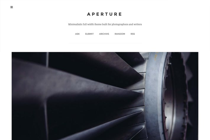Thumbnail for Aperture - Single Column Theme