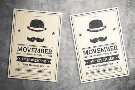 Mustache Party Flyer