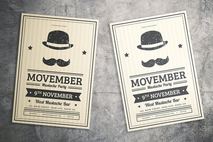 Thumbnail for Mustache Party Flyer