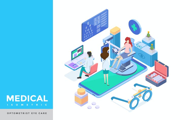 Thumbnail for Optometrist Isometric