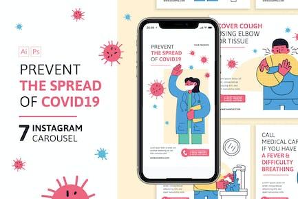 Prevent Corona Virus Instagram Carousel