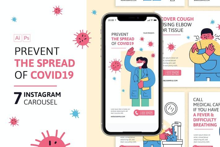 Thumbnail for Prevent Corona Virus Instagram Carousel