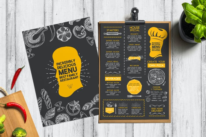 Food Menu Template By BarcelonaDesignShop On Envato Elements - Delivery menu template