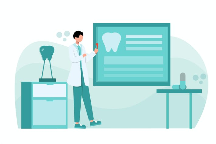Thumbnail for Dentist Flat Design Vector Illustration