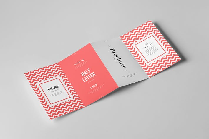 Thumbnail for Four-Fold Half Letter Brochure Mock-up