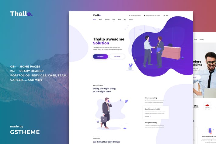 Thallo — Consulting & Finance WordPress Thema
