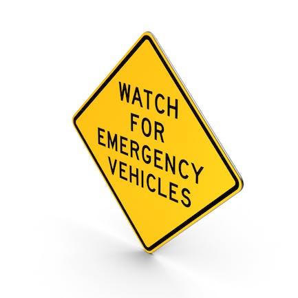 Watch For Emergency Vehículo de Texas