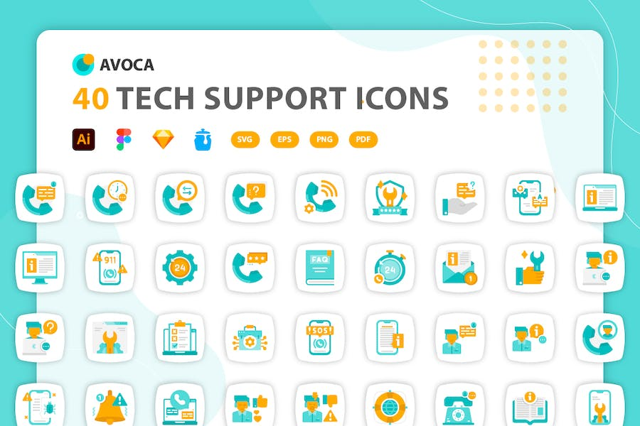 Avoca - Tech Support Icons