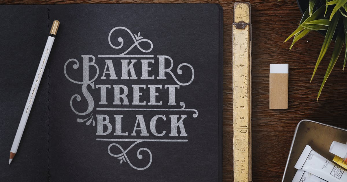 Download BakerStreet Black by kimmydesign
