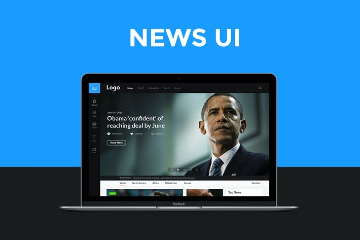 Thumbnail for News website UI
