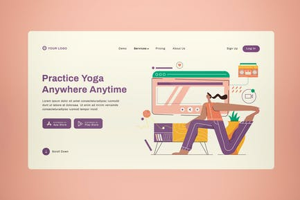 Online Yoga Landing Page Design